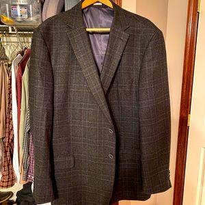 Black and gray plaid blazer
